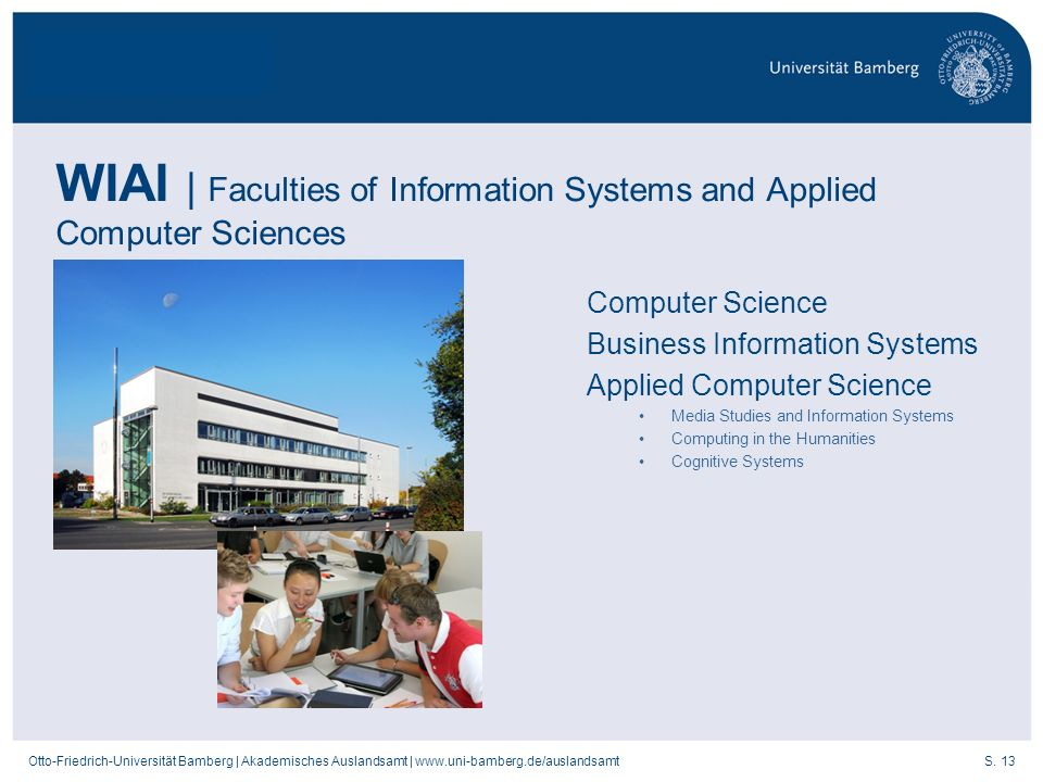 WIAI | Faculties of Information Systems and Applied Computer Sciences