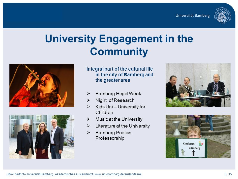 University Engagement in the Community