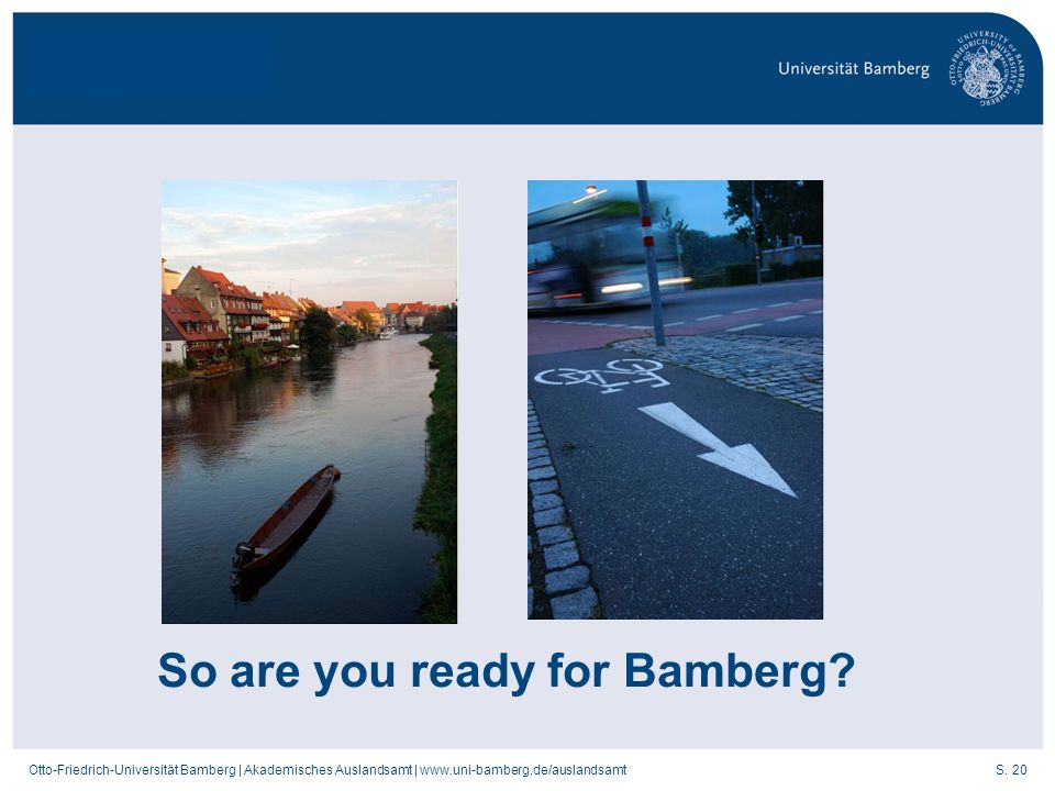 So are you ready for Bamberg