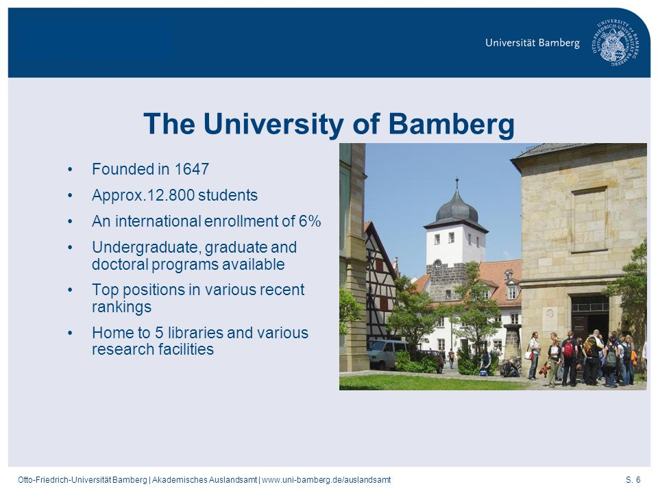 The University of Bamberg