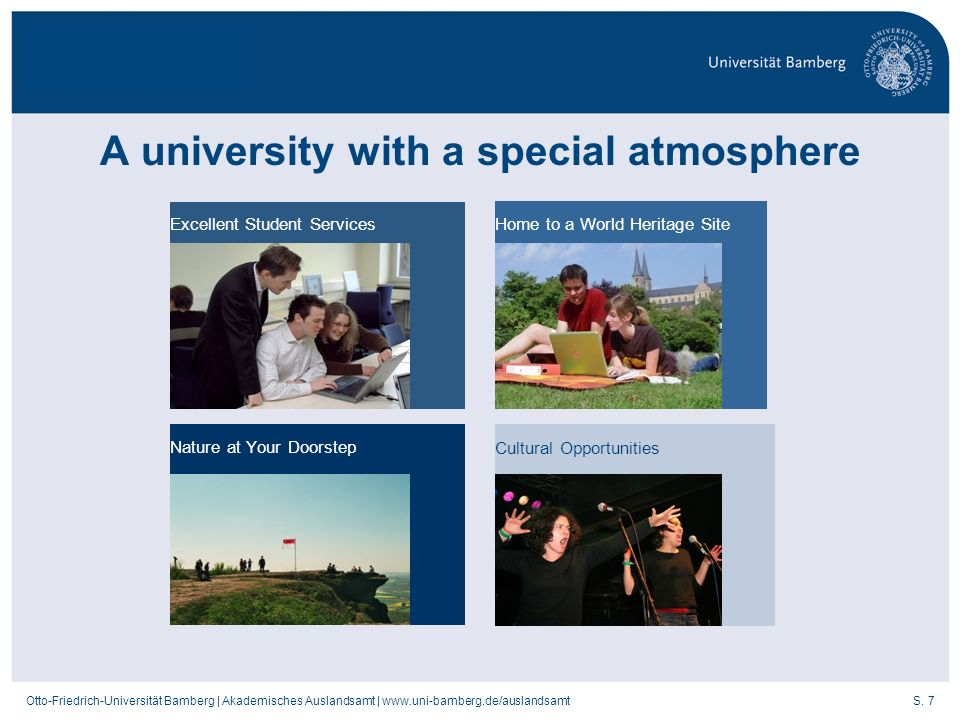 A university with a special atmosphere