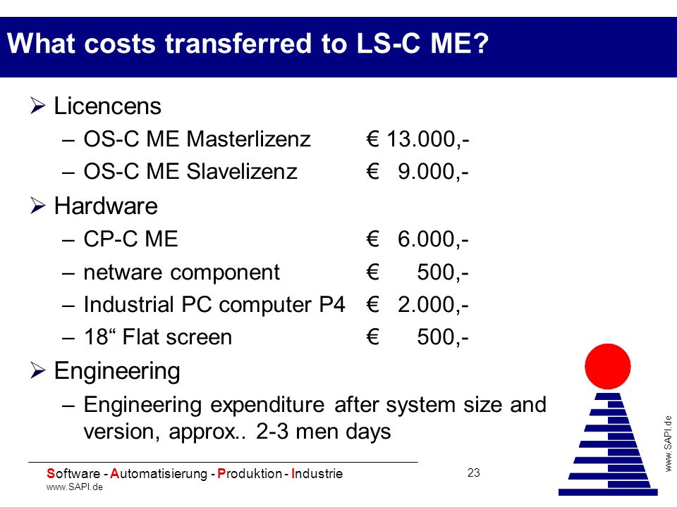 What costs transferred to LS-C ME
