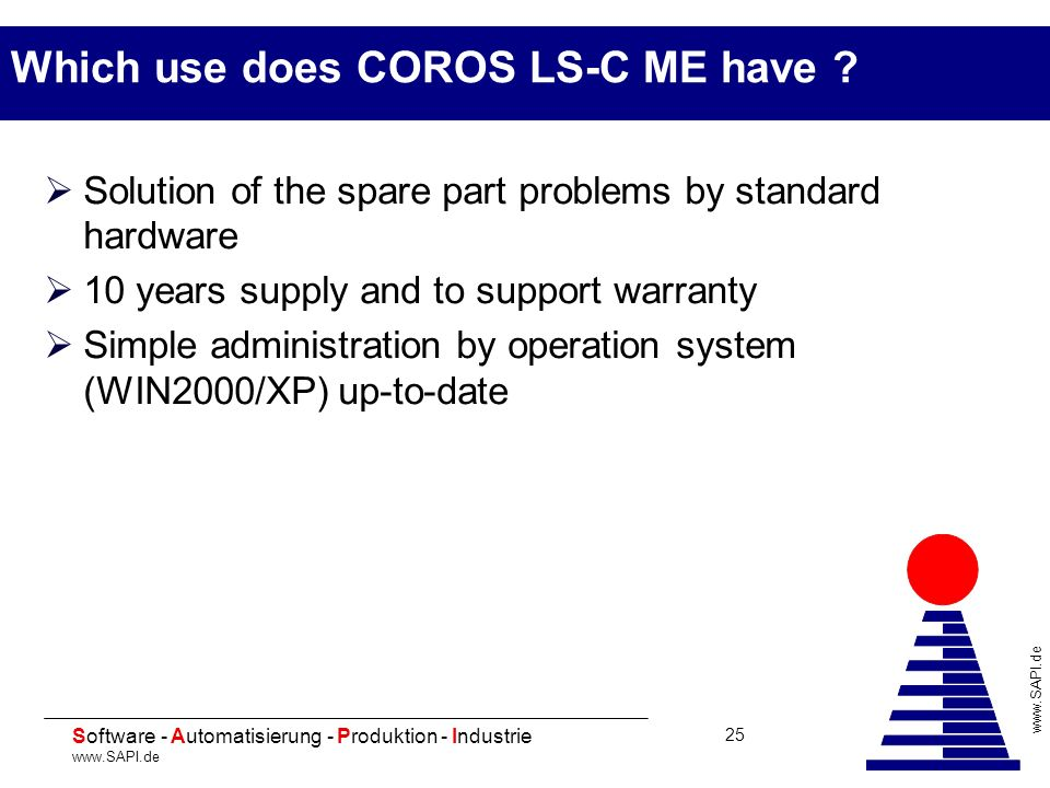 Which use does COROS LS-C ME have