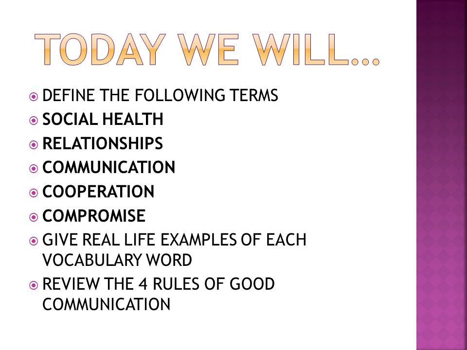 WARM UP: REVIEW SOCIAL HEALTH NOTES - ppt video online ...