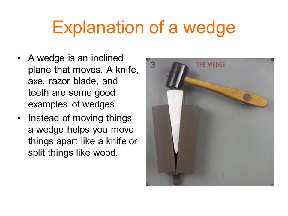 Examples Of Wedges Simple Machines Group ...