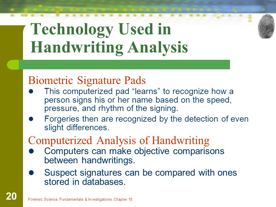 forensic handwriting analysis services