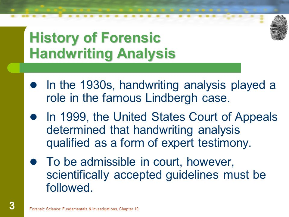 Forensic handwriting analysis software