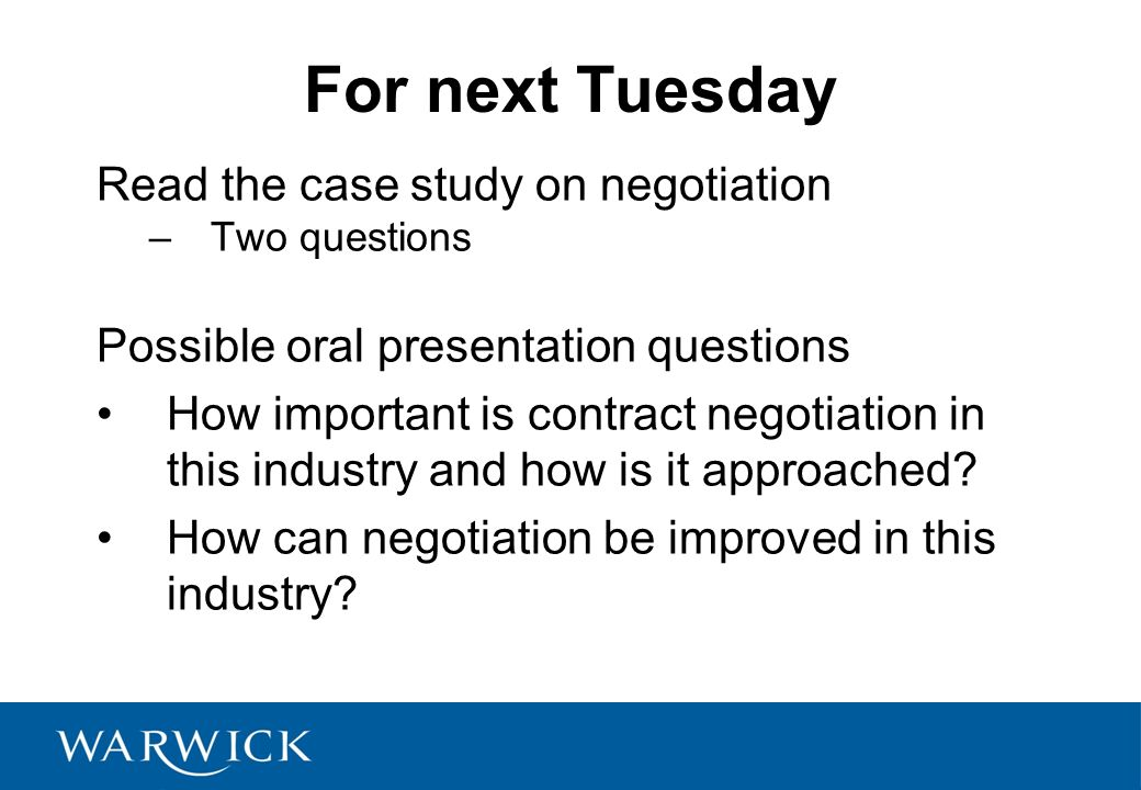 negotiation case studies