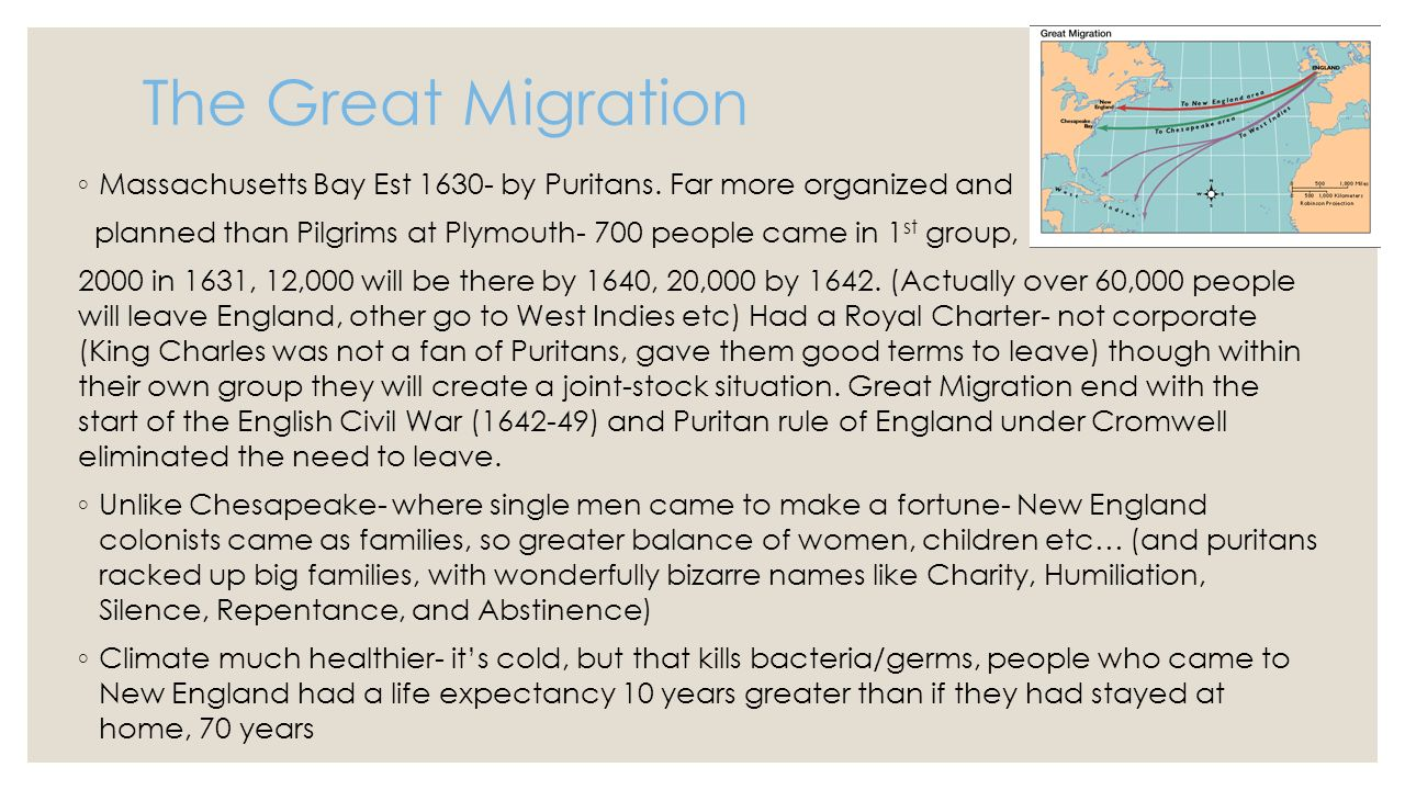 an overview of the life and migrations of the puritans Church history summary written by: kennedy,  social, economic life edict of milan  puritans 87 roman catholic counter reformation.