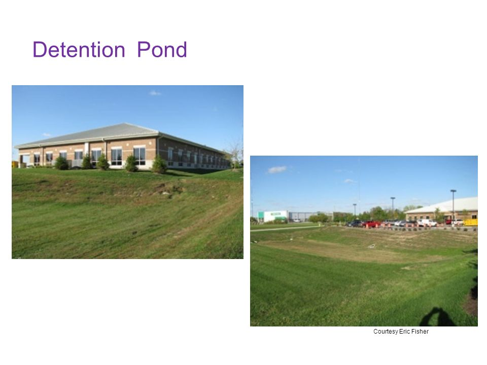 Storm water storage and treatment ppt video online download for Design of detention pond