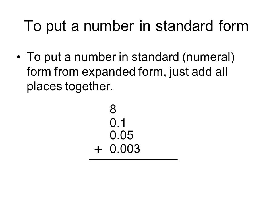 Place Value Expanded And Standard Forms Ppt Download