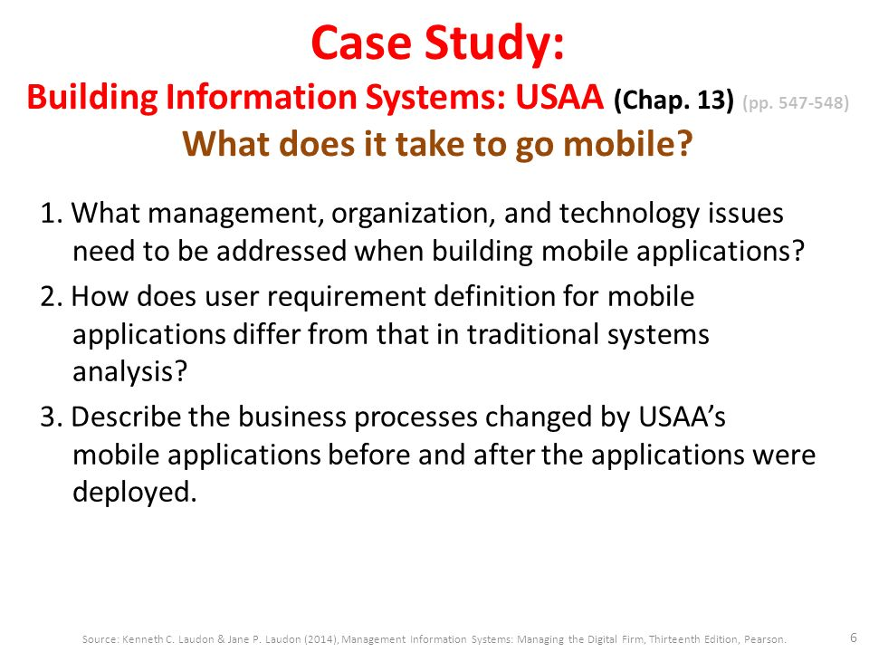 information systems case study