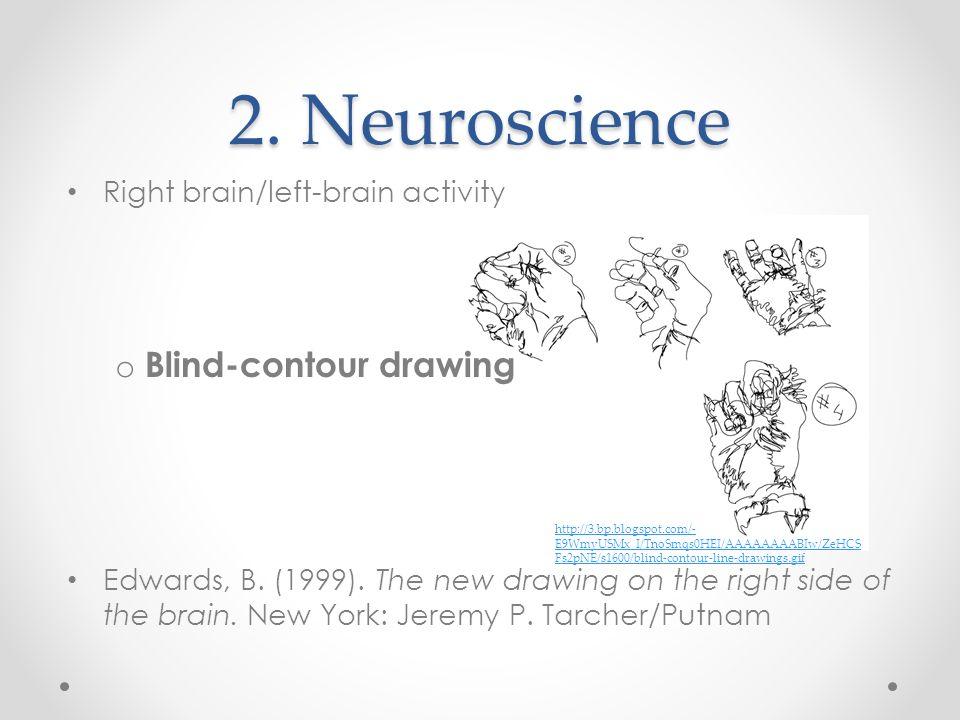 2. Neuroscience Blind-contour drawing Right brain/left-brain activity