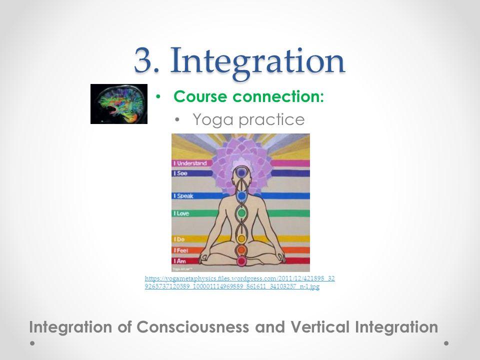 3. Integration Course connection: Yoga practice