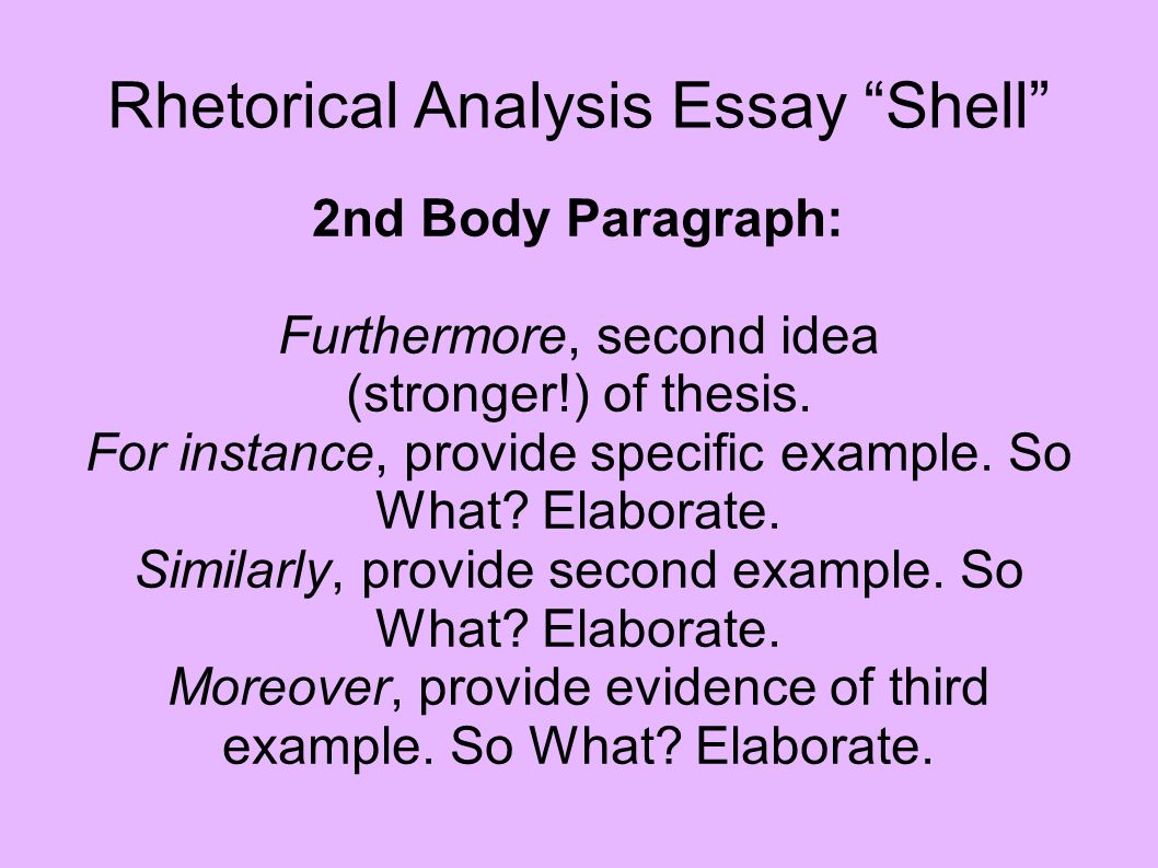 Writing a rhetorical essay