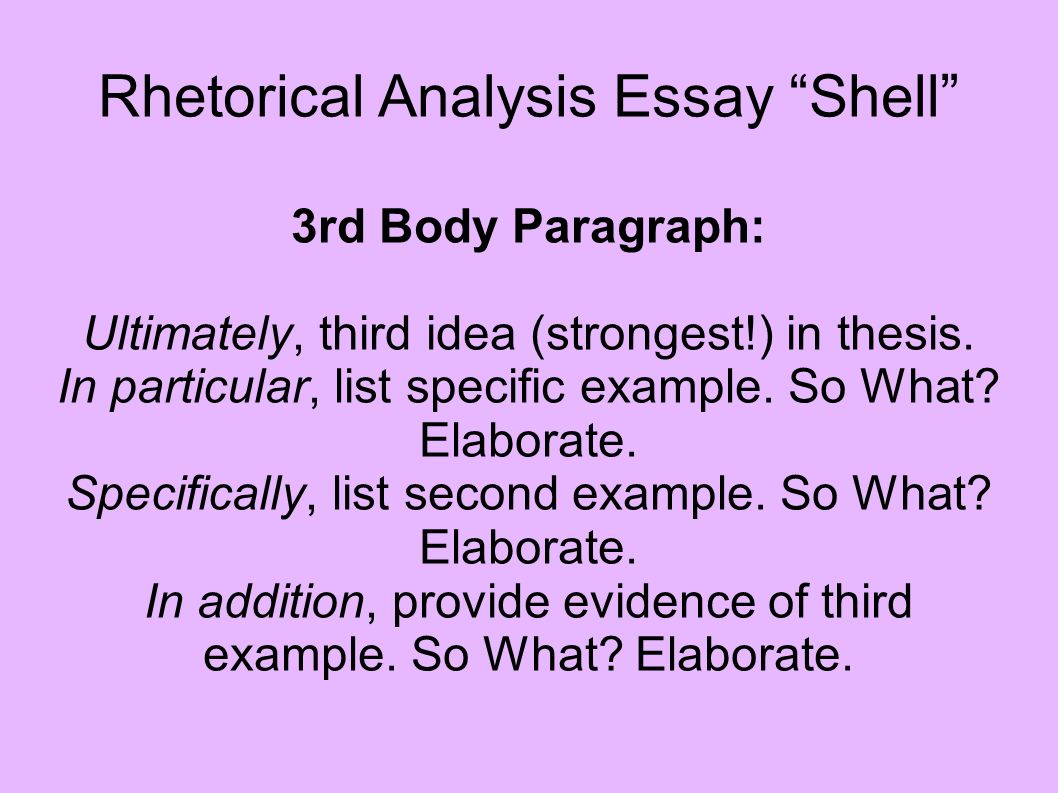 conclude rhetorical analysis essay This resource covers how to write a rhetorical analysis essay of  like any  rhetorical analysis essay, an essay analyzing a visual  analysis essay may not  operate too differently from the conclusion of any other kind of essay.