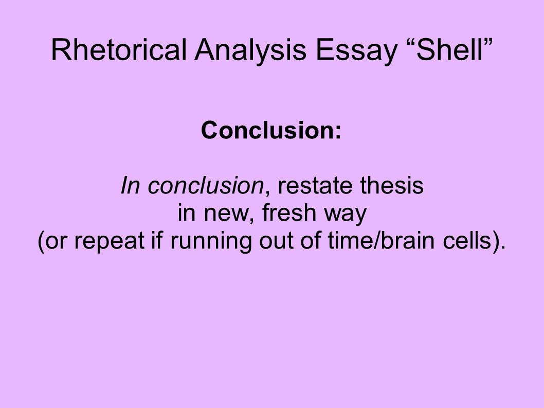 repeat thesis for conclusion