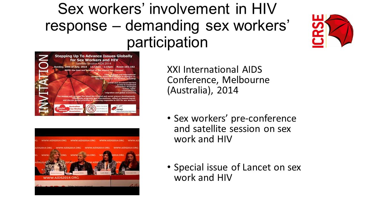 Sex workers' involvement in HIV response – demanding sex workers' participation