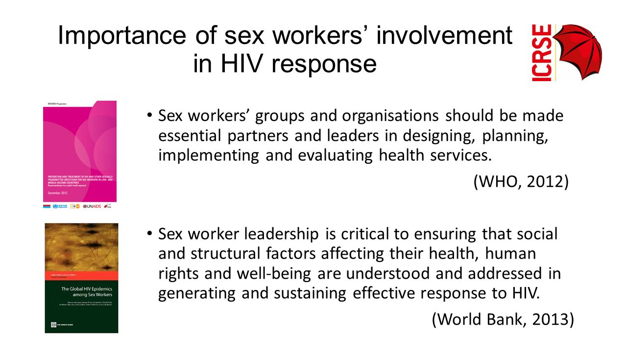 Importance of sex workers' involvement in HIV response