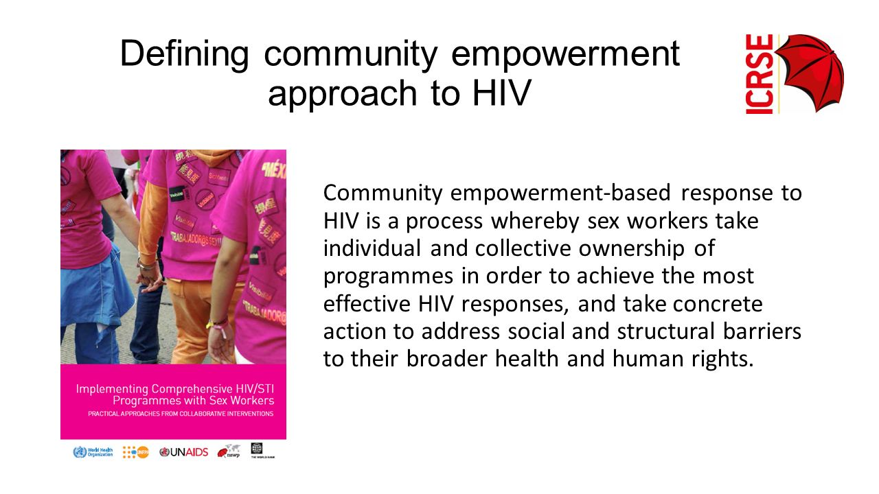 Defining community empowerment approach to HIV