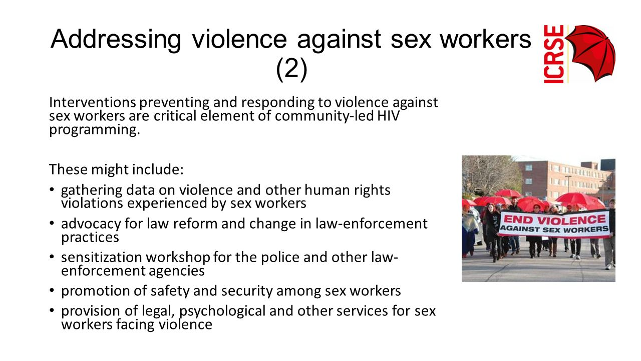 Addressing violence against sex workers (2)