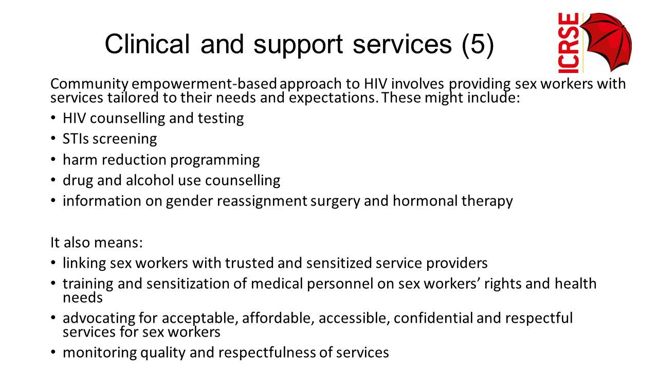 Clinical and support services (5)