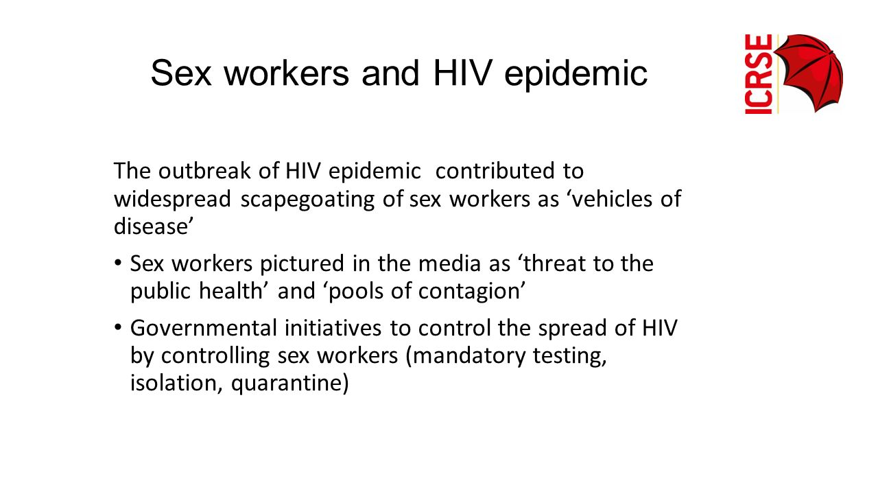 Sex workers and HIV epidemic