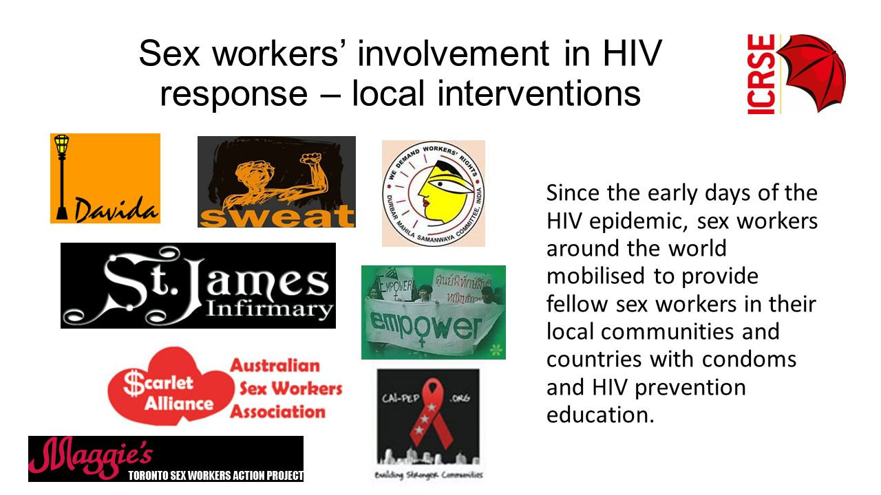 Sex workers' involvement in HIV response – local interventions