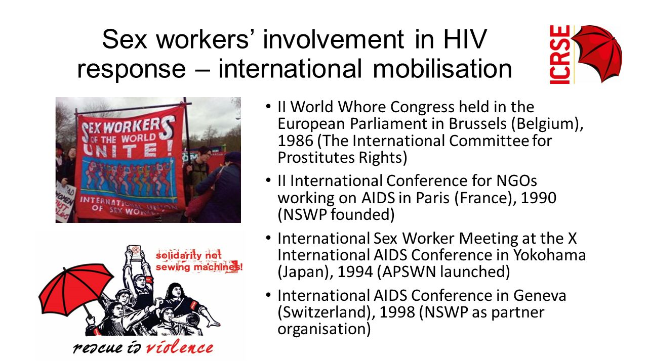 Sex workers' involvement in HIV response – international mobilisation
