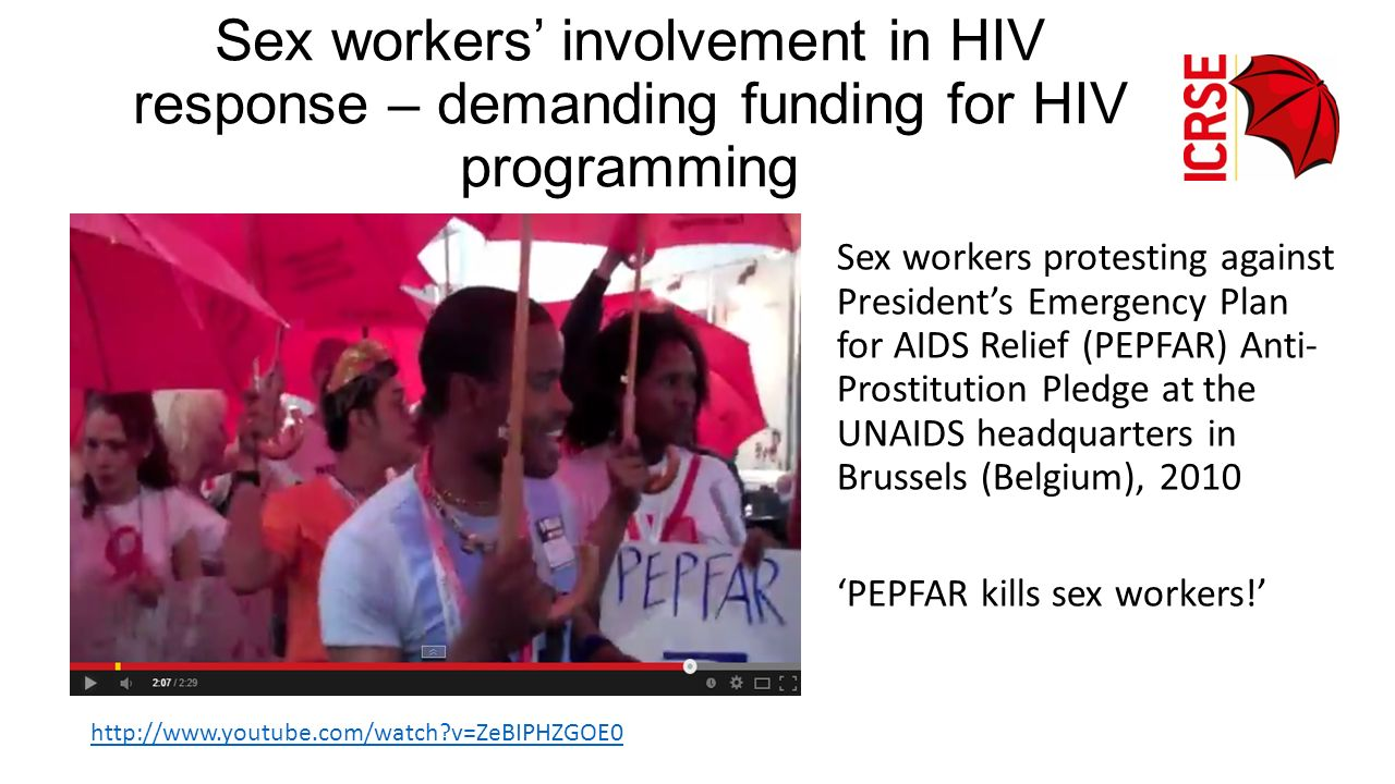 Sex workers' involvement in HIV response – demanding funding for HIV programming