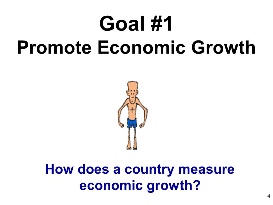 How to measure the economic growth of a country?