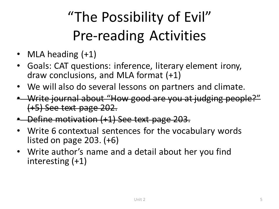 The Possibility of Evil Questions and Answers