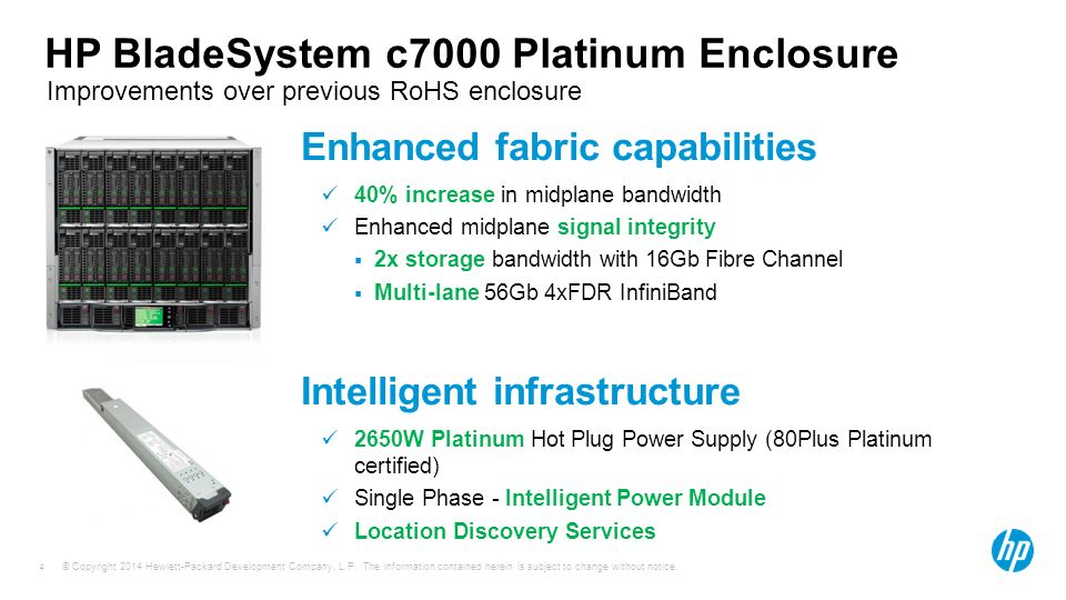 hp bladesystem c7000 enclosure evolution