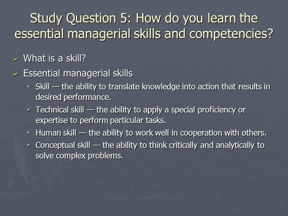Management Fundamentals - Chapter 1