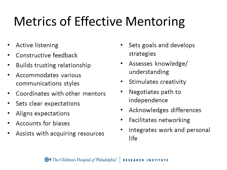 effectiveness of mentoring This article focuses on mentoring program practices in relation to issues of effectiveness, while recognizing that implications for program quality conceptualized more broadly is a key.