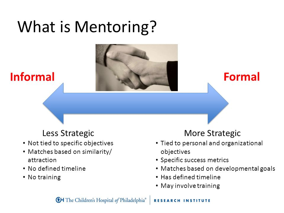 the impact of informal relationships forming within formal organizations Mentor functions and outcomes: a comparison of men and women in formal and informal mentoring relationships found to have a positive impact on organizational.
