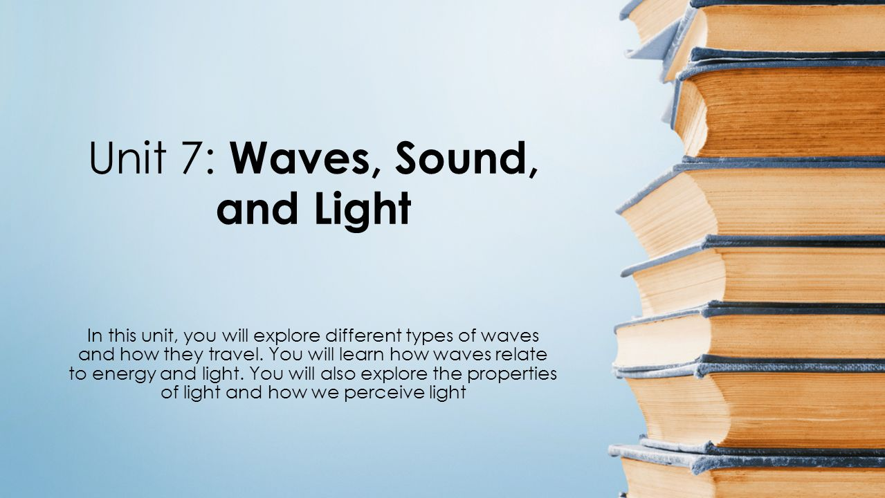 light and sound waves essay 1-32 comparison of light waves with sound waves there are two main differences between sound waves and light waves the first difference is in velocity sound waves travel through air at the speed of approximately 1,100 feet per second light waves travel through air and empty space at a speed of.