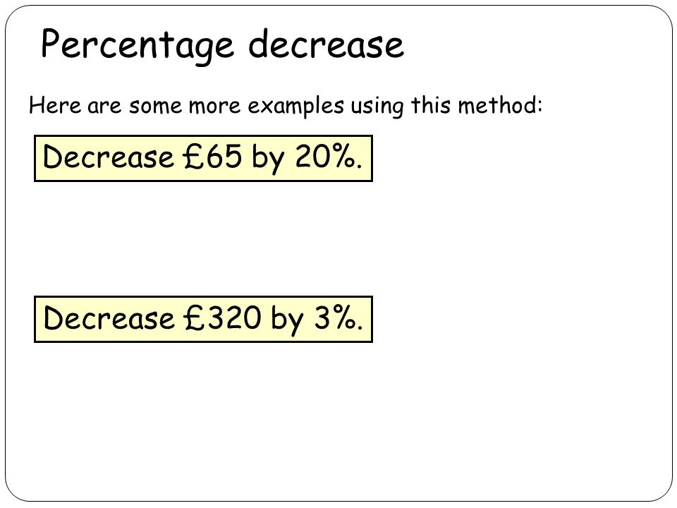 how to find a percentage of a price increase