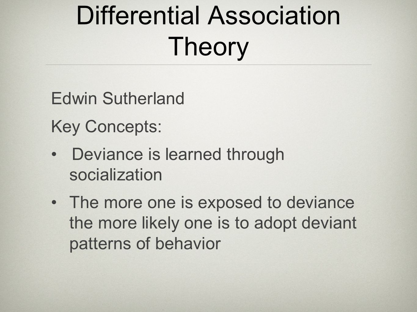 differential association and social bonding theory Differential association and social bonding theory essays: over 180,000 differential association and social bonding theory essays, differential association and social bonding theory term papers, differential association and social bonding theory research paper, book reports 184 990 essays, term and research papers available for unlimited access.