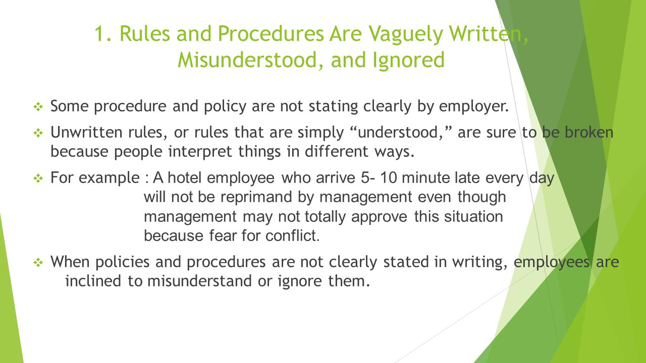 writing policy and procedures