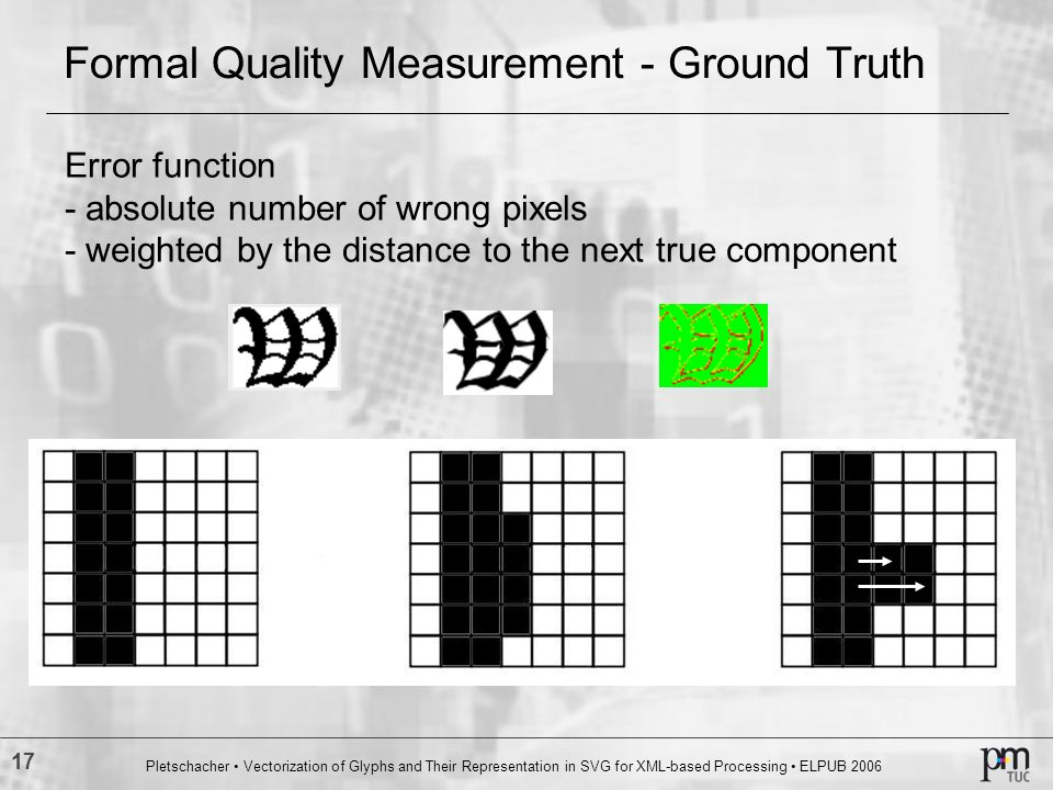 Formal Quality Measurement - Ground Truth