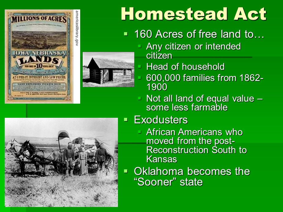 Cattle cowboys and settling the great plains ppt video for Kansas homestead act