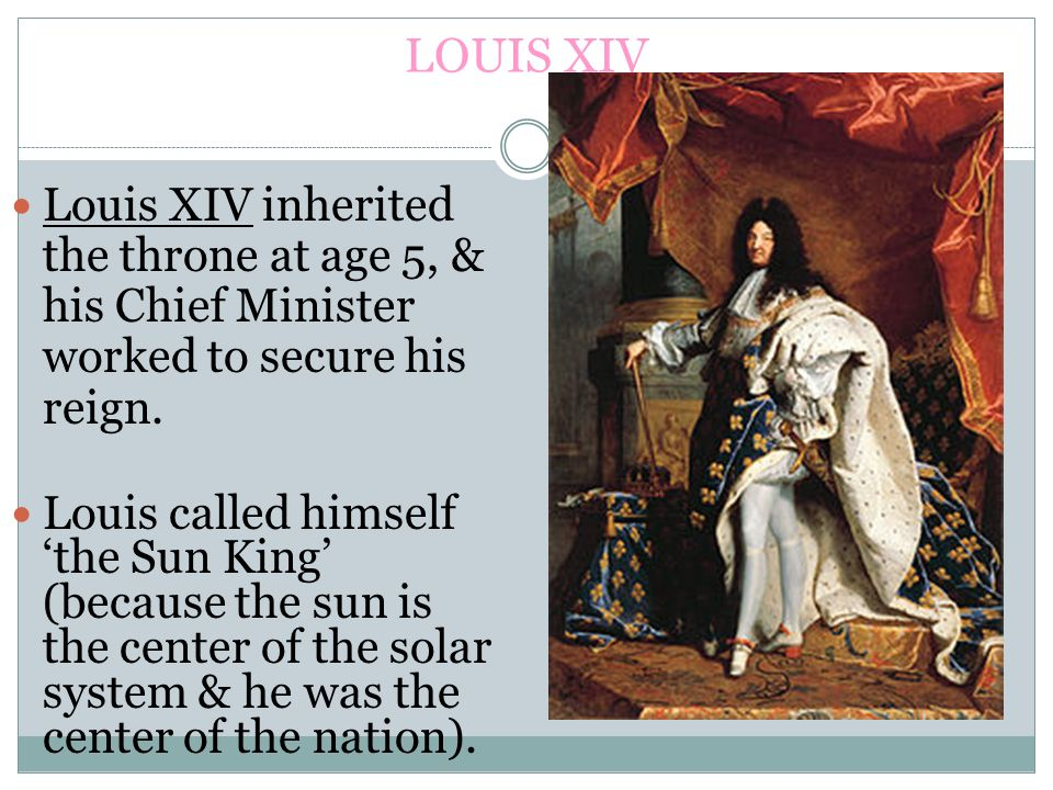 the life and reign of king louis xiv in france Louis xiv of france early life and reign starting in 1661, king louis xiv transformed a humble hunting lodge into a glittering palace.