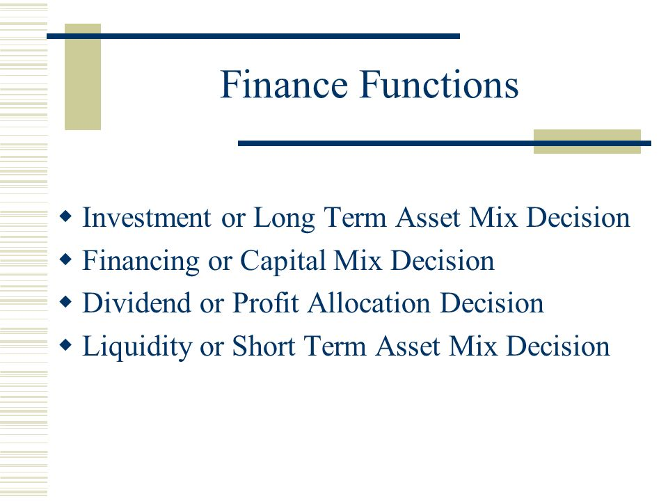 long term investment decisions essay This article discusses the role of finance in strategic planning, decision making,   [9] the company's long-term financial goals represent its commitment to a.