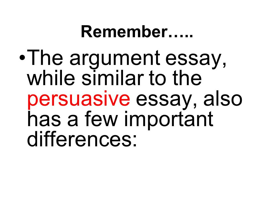 The important thing to remember in writing an essay