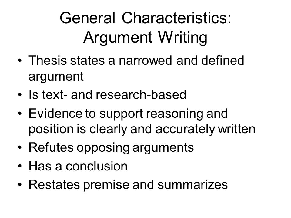 what characterizes an argumentative essay