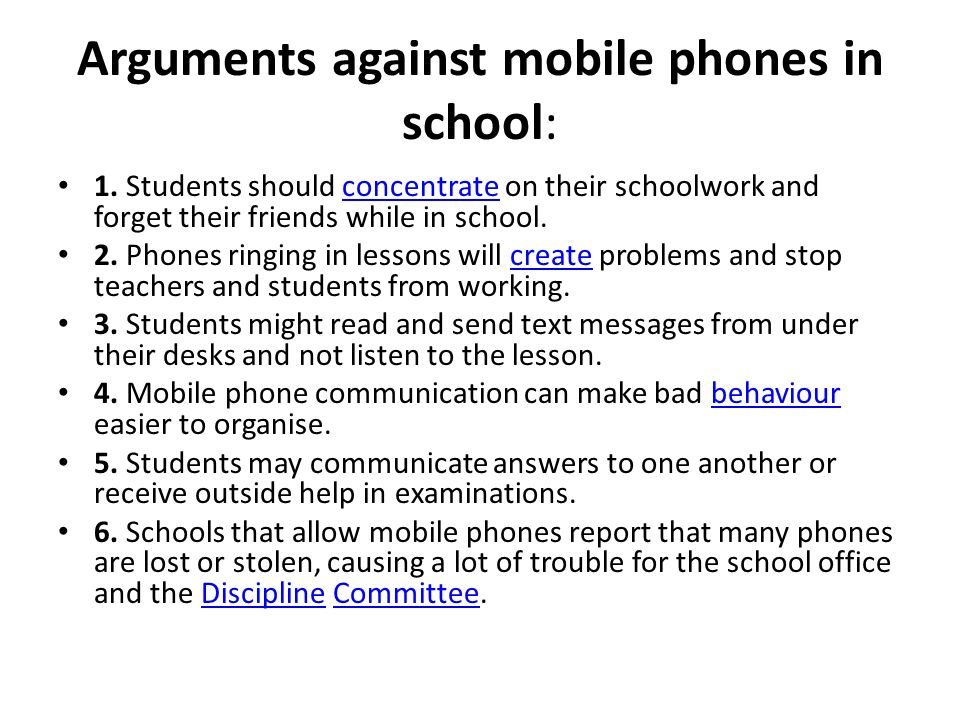 The Disadvantages of Mobile Phones in Schools