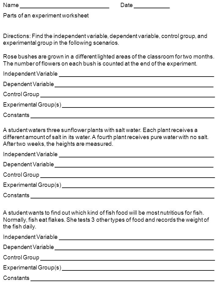 Collection of Independent Dependent Variable Worksheet Sharebrowse – Variable Worksheets