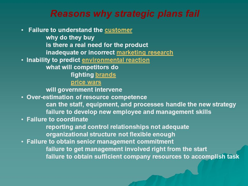organisations that fail to plan are Failing to plan is planning to fail and this is a lesson that strategists and   organization and see its integration across relevant business teams.