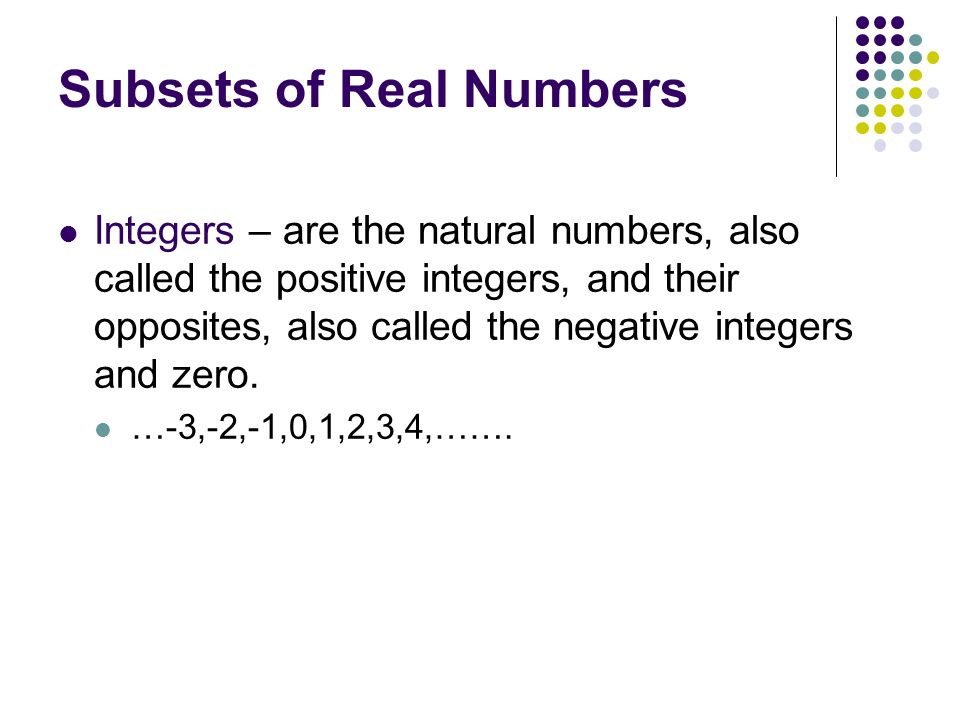 Unit 1-Number Sets Aa-1.1 Define and identify integers ...